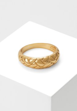 Orelia - DOMED WAFFLE - Ring - pale gold-coloured