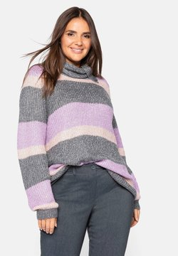 Sheego - Strickpullover - hellmauve