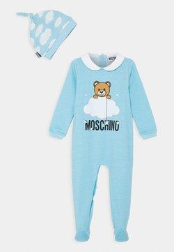 MOSCHINO - BABYGROW HAT GIFT SET UNISEX - Muts - baby sky blue