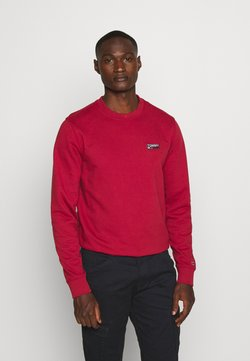 Tommy Jeans - TJM WASHED CORP LOGO CREW - Sweatshirt - wine red