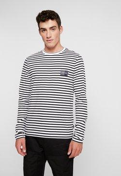 Calvin Klein - LIQUID TOUCH STRIPE LONG SLEEVE - Langarmshirt - white