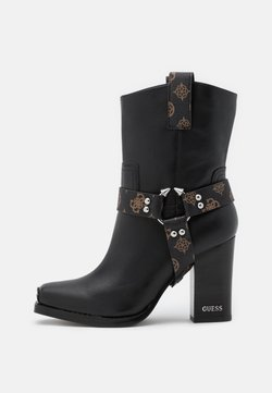 Guess - FLAVIA - Botki na obcasie - brown/ocra