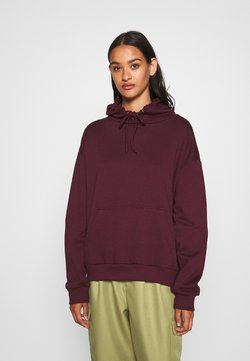 Even&Odd - BASIC OVERSIZED HOODIE WITH POCKET - Sweat à capuche - bordeaux