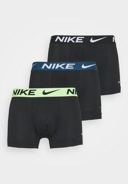 Nike Underwear - TRUNK  3 PACK - Panties - black/green/lime