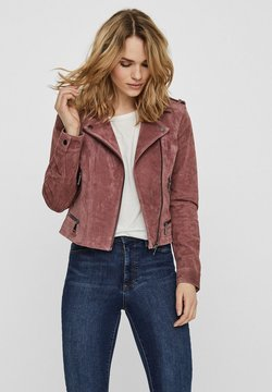 Vero Moda - Veste en cuir - rose
