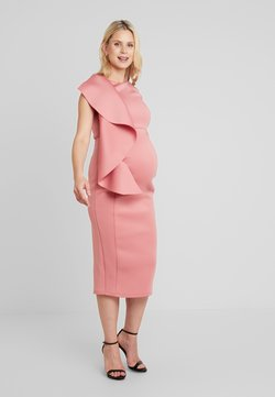 True Violet Maternity - WOW SIDE FRILL BODYCON  - Etui-jurk - dusty rose