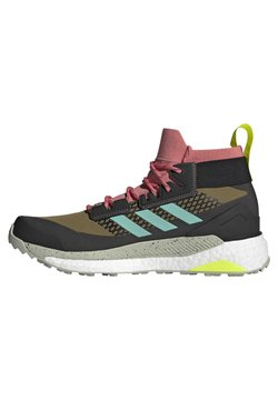 adidas Performance - TERREX FREE HIKER GORE-TEX WANDERSCHUH - Hikingschuh - khaki