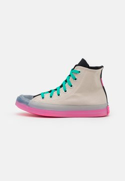 Converse - CHUCK TAYLOR ALL STAR PULL TAB UNISEX - Sneakers high - string/hyper pink/black