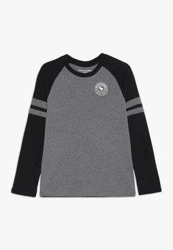 Abercrombie & Fitch - FOOTBALL TEE - Langarmshirt - grey/black
