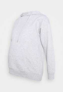 New Look Maternity - POCKET HOODIE - Huppari - light grey