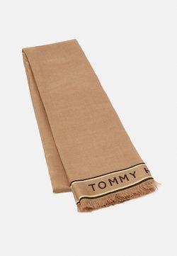 Tommy Hilfiger - LOGO BORDER SCARF - Schal - beige