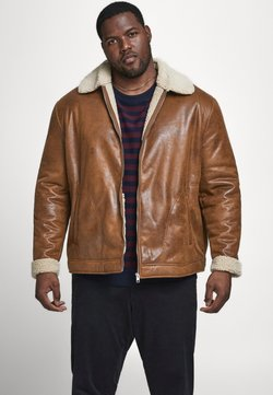 Jack & Jones - JJFLIGHT JACKET - Veste en similicuir - cognac
