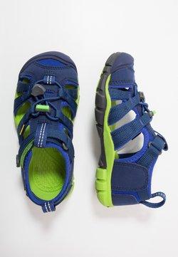 Keen - SEACAMP II CNX - Sandały trekkingowe - blue depths/chartreuse