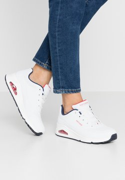 Skechers Sport - UNO - Sneakers - white/navy/red