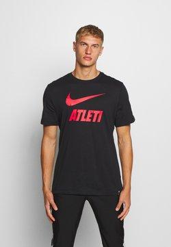 Nike Performance - ATLETICO MADRID TEE GROUND - Vereinsmannschaften - black