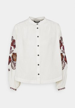Scotch & Soda - EMBROIDERED TOP WITH VOLUMINOUS SLEEVES - Hemdbluse - ecru