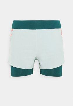ONLY Play - ONPFERR LOOSE TRAIN SHORTS - Pantalón corto de deporte - gray mist/neon orange