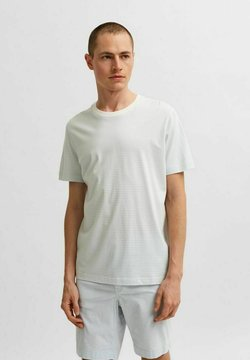 Selected Homme - T-shirt con stampa - ballad blue