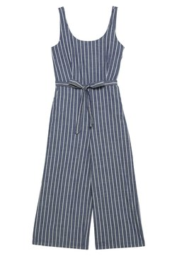 Vero Moda - VMDOTTI CULOTTE  - Jumpsuit - medium blue denim/white
