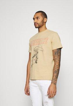 Mennace - UNISEX WHIPLASH TEE - T-shirts med print - tan