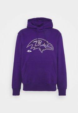 Fanatics - NFL BALTIMORE RAVENS GLOW CORE GRAPHIC HOODIE - Pelipaita - purple