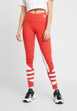 adidas Originals - LARGE LOGO ADICOLOR LARGE LOGO TIGHT TIGHTS - Leggings - lush red/white