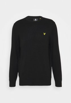Lyle & Scott - Crew Neck Jumper - Strikkegenser - jet black