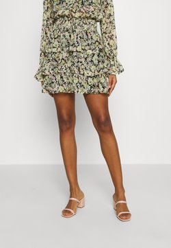 Gina Tricot - EXCLUSIVE ARCHER FRILL SKIRT - Minirock - spring flower