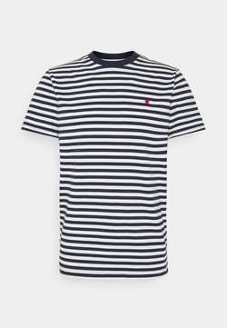 Jack & Jones PREMIUM - JJRDD STRIPE TEE CREW NECK - T-shirt imprimé - navy blazer