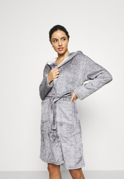 Loungeable - RACOON HOODED ROBE - Peignoir - grey