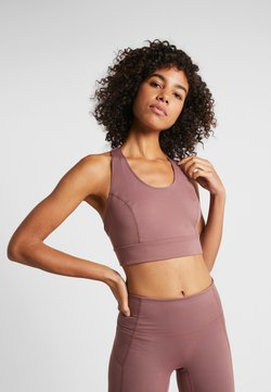 Free People - LIGHT SYNERGY CROP - Sport-bh met light support - chocolate