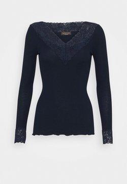 Rosemunde - ORGANIC VNECK REGULAR - Bluzka z długim rękawem - navy