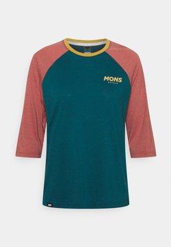 Mons Royale - TARN FREERIDE RAGLAN 3/4 - Langarmshirt - deep teal/pink clay