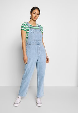 Monki - CIARA DUNGAREES - Salopette - blue medium dusty