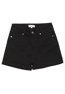 Selected Femme - SLFSILLA FOLD UP - Jeansshort - black denim