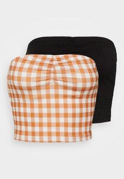 Glamorous - MAYA RUCHED BANDEAU 2 PACK - Top - rust/black