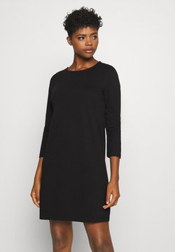 Vero Moda - VMEVA 3/4 SLEEVE SHORT DRESS - Strickkleid - black