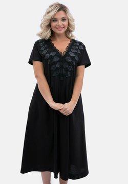 Wisell - IN A-LINIE MIT V-AUSSCHNITT - Korte jurk - schwarz