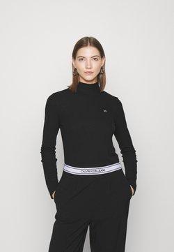 Tommy Jeans - MOCK NECK LONGSLEEVE - Langarmshirt - black