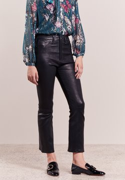 rag & bone - Pantalon en cuir - black