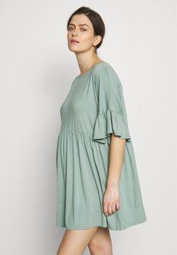 Missguided Maternity - MATERNITY FRILL SLEEVE SMOCK DRESS - Jerseykleid - sage