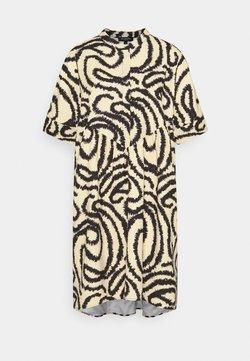 Selected Femme - SLFMARILYN VIOLA 2/4 DRESS  - Vapaa-ajan mekko - sandshell/black