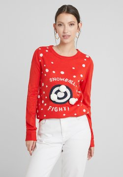 Vila - Jumper - racing red/snowballs