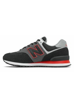 New Balance - 574 - Matalavartiset tennarit - black/red