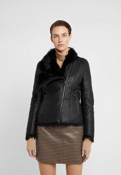 VSP - SHORT JACKET - Leather jacket - toscana black