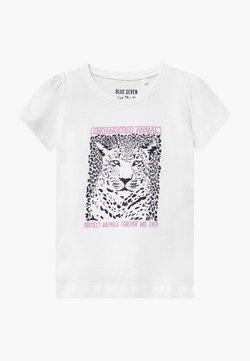 Blue Seven - SMALL GIRLS LEOPARD - T-Shirt print - white