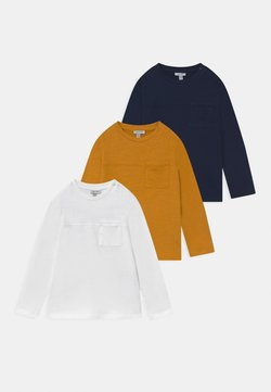 OVS - 3 PACK - T-shirt con stampa - navy peony/snow white/cyber yellow