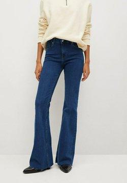 Mango - FLARE - Flared Jeans - donkerblauw