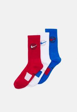 Nike Performance - EVERYDAY CREW 3 PACK - Sportsocken - gym red/white/signal blue