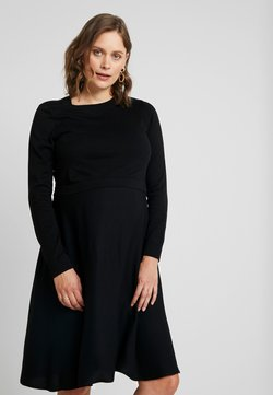 Esprit Maternity - DRESS MIX NURSING - Gebreide jurk - black